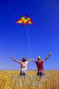 playfulness flying a kite