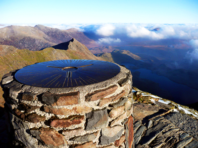 Summit of Snowdon, Wale's Highest Mountain